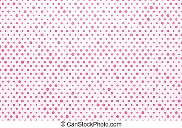 background with pink polka dots