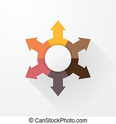 pastel color wheel with arrows