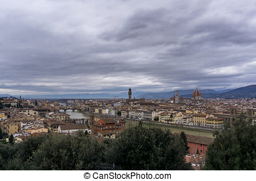 View from Michelangelo plaza - View of Duomo, vecchio...