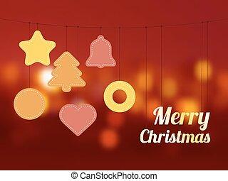 Christmas ornament on thread