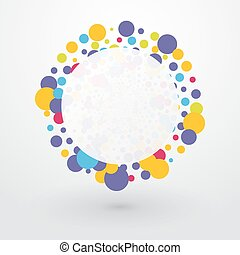 Colorful bubbles with place for text