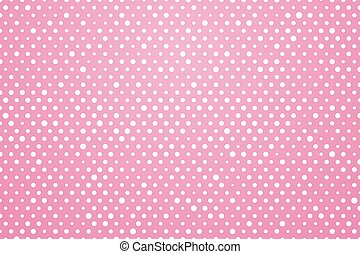 pink background with white dots