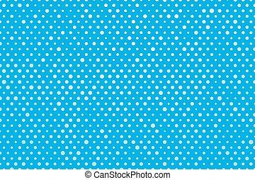 blue background white polka dots