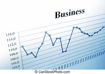 business chart - business data and chart showing financial...