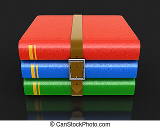 Stack of book with belt
