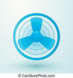 spinning fan symbol