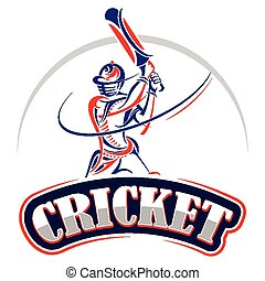 Cricket player playing with bat