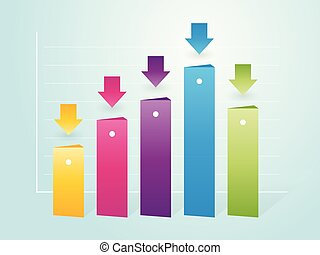 simple column color charts with indicators