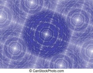 glowing blue star pattern