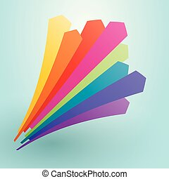 colorful arrows pointing upward