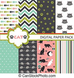 Cat pattern set