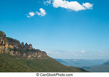 View of the Three Sisters in the Blue Mountains, Australia.