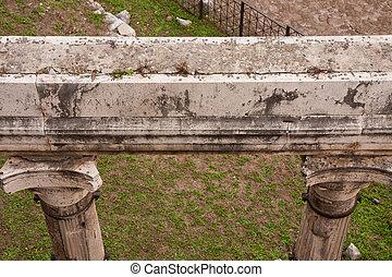 Forum Romanum. Monuments of Rome