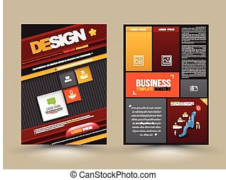 Vector design page template modern style. Vector...