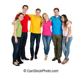 Gruppe,  friends,  Multiethnic, glücklich