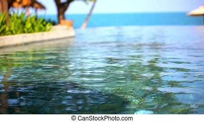 Swimming pool near the sea, island Koh Samui,Thailand Video...