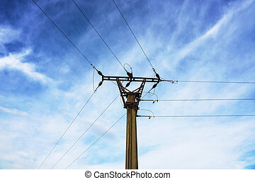 Old electric pole