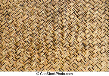 Brown bamboo woven  background