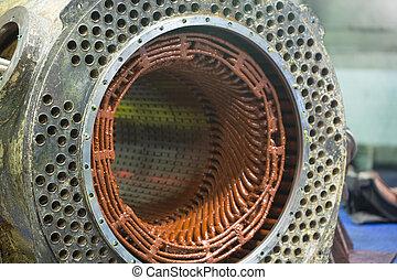 Stator of a big electric motor repair
