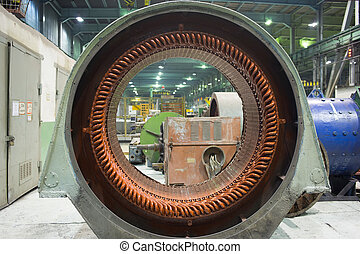 Stator of a big electric motor repair