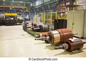 el, eléctrico, motor, rotor, de, stock.,