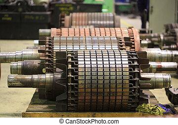 The electric motor rotor of stock. repair