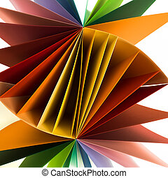 colored paper - macro image of colored sheets of paper...