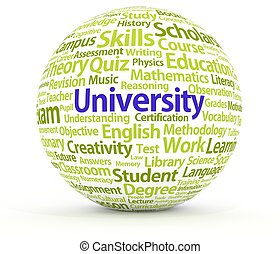 University - Illustration of a sphere containing many...