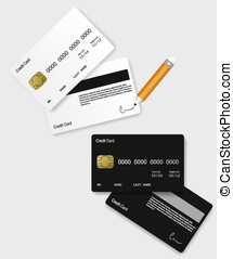 Credit card black and white