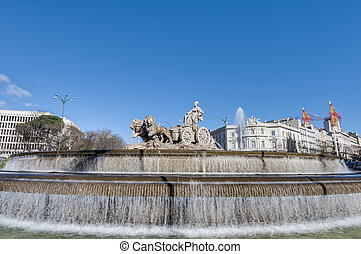 The fountain of Cibeles in Madrid, Spain - The fountain of...