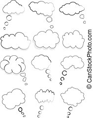 Chat bubbles icons set vector illustration.