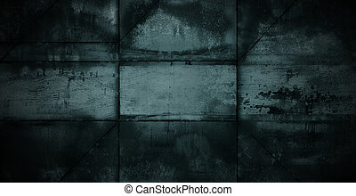 Dark Metal Background - Dark welded sheets of metal as a...