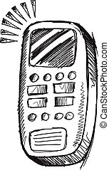 Doodle Sketch Cell Phone Vector art