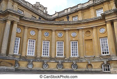 Blenheim Palace, Woodstock, England - windows of a British...