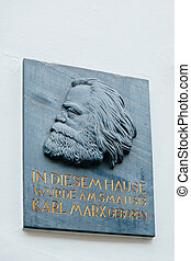 Commemorative plaque - Karl Marx house - Commemorative...