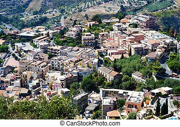City of Taormina, Sicily, Italy - cityscape
