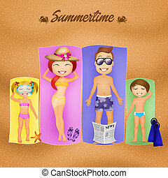 summertime - illustration of summertime
