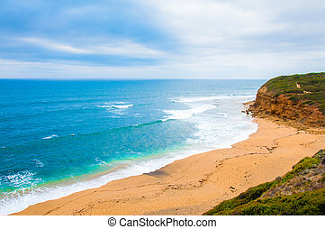 Bells beach on Great Ocean Road - Bells Beach is a coastal...