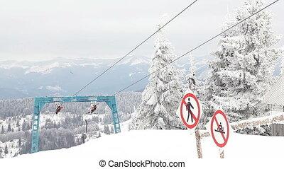 Part of ski lift