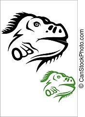 Iguana - Vector illustration : Iguana on a white background