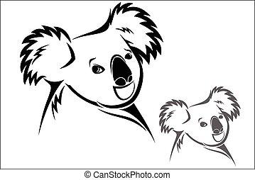 Koala bear - Vector illustration : Koala bear on a white...