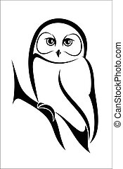 Owl 2 - Vector illustration : Owl on a white background.
