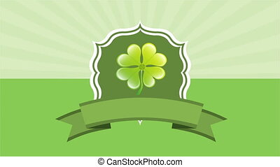 Patricks day, Video animation - Patricks day label with...
