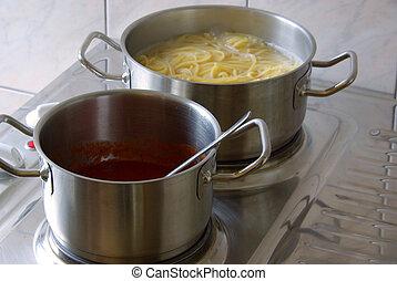 cooking spaghetti 10