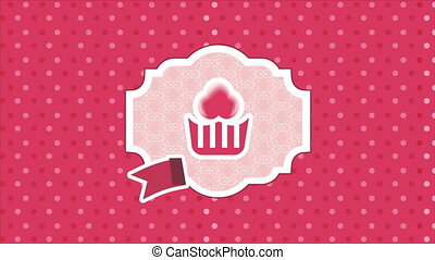 Cupcake label Video animation, HD 1080