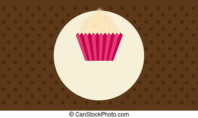 Cupcake Label, Video animation - Cupcake label Video...