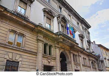 Historical palace. Piacenza. Emilia-Romagna. Italy.