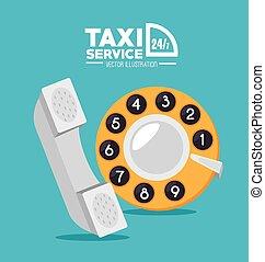 taxi,  vector, diseño, Ilustración