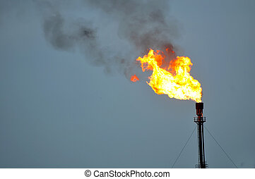 gas flaring at afam gas plant okoloma ndoki Rivers state...