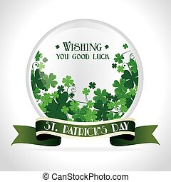 St patricks day card design, vector illustration